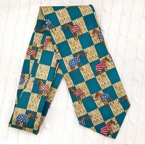 1995 Arkansas Derby Tie Stabled Horse design